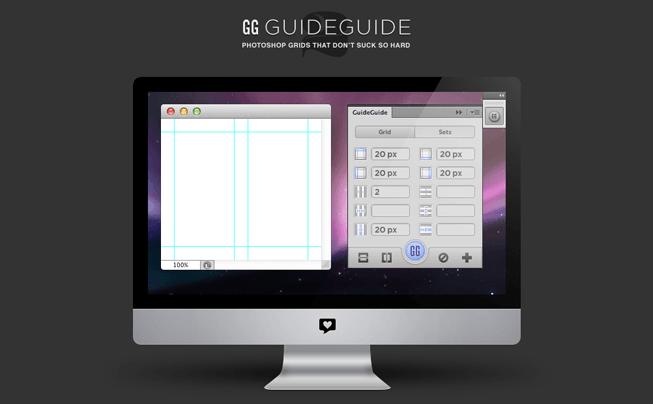 Photoshopで簡単にガイドを等間隔でひく方法!エクステンション、GuideGuideの使い方