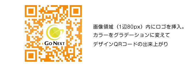 ロゴを設置したQRコード