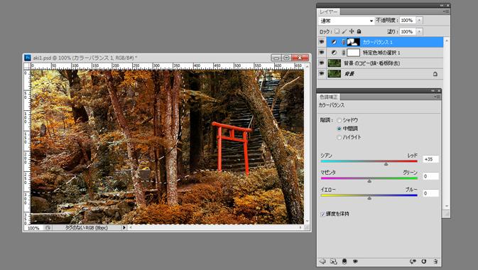 色味を加えるイメージ画像