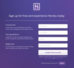 Herokuサインアップ