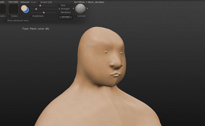 モデリングソフト「Sculptris」で人間をモデリング!