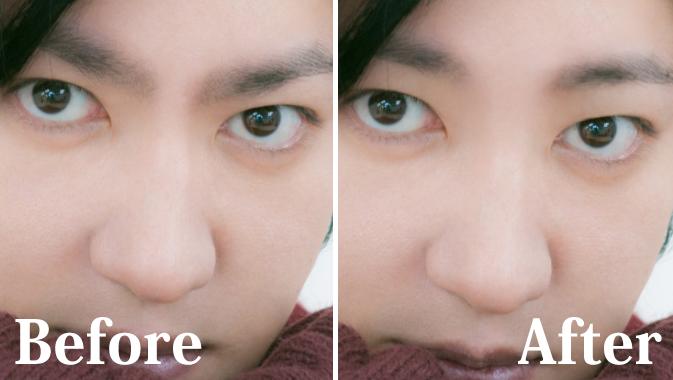 眉毛の位置や形を整える加工
