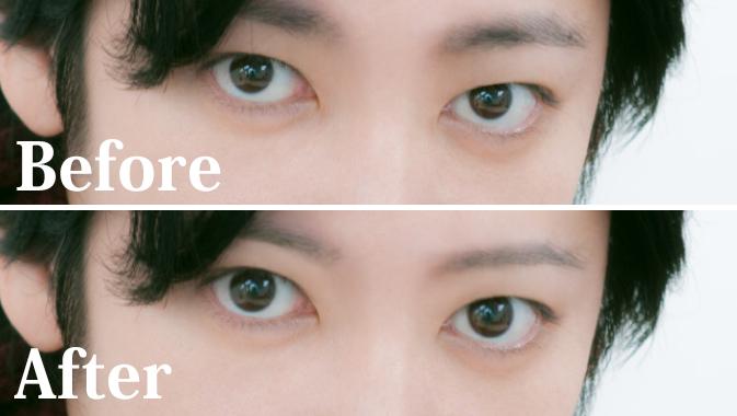 瞳を大きくする加工
