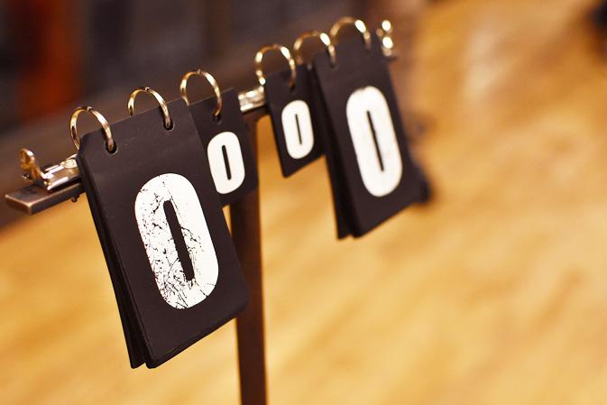 卓球の点数表