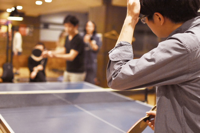 卓球の風景