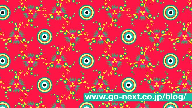 三角形を使ったパターン模様の完成です