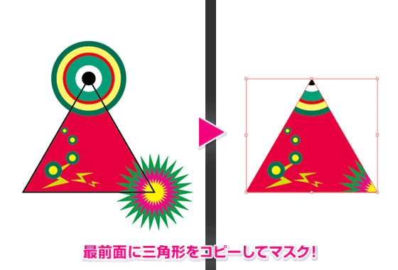 三角形でマスク