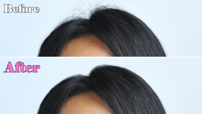 髪の毛処理のビフォアアフター