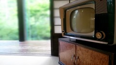 懐かしのテレビで仕事をしてみる