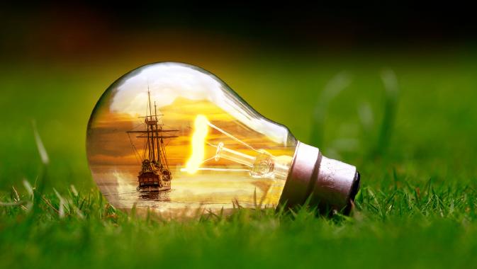 電球と船点灯