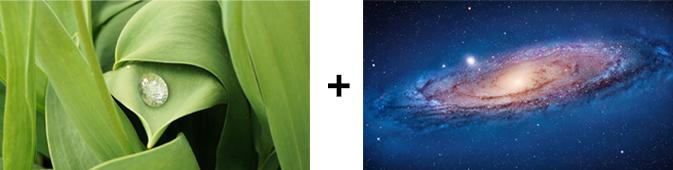 水滴と宇宙素材