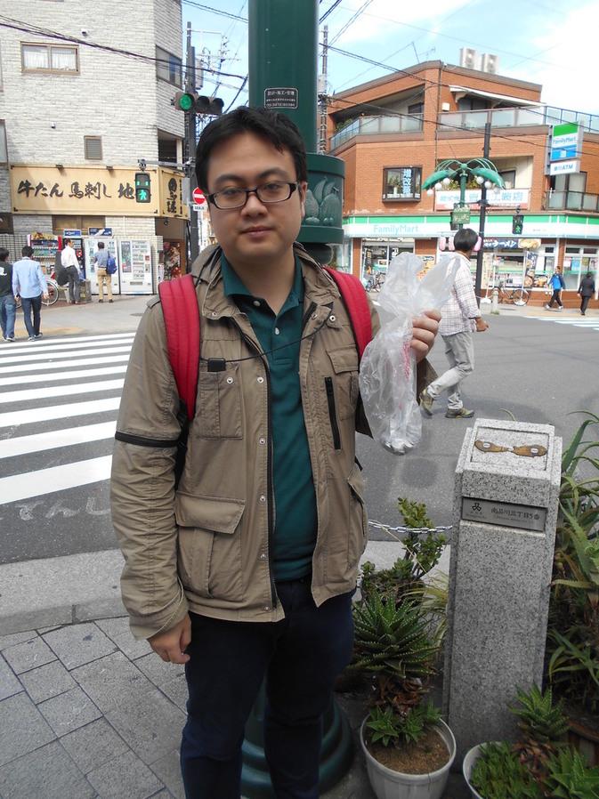 旧東海道と募金スタート