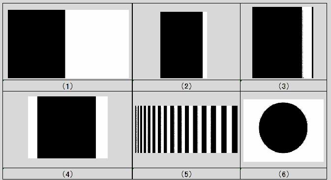 白黒変換画像後