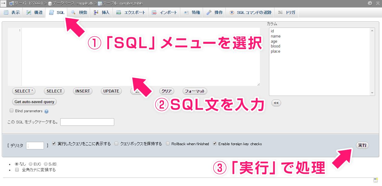 sql文の処理手順