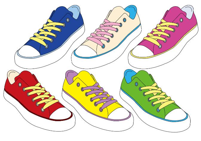 歩きやすい靴、スニーカー